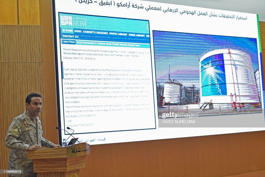 SAUDI-YEMEN-CONFLICT-OIL : News Photo