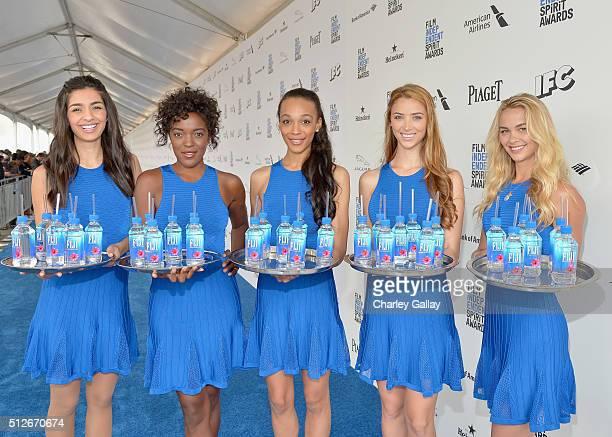 FIJI spokesmodels at the 2016 Film Independent Spirit Awards sponsored by FIJI Water on February 27 2016 in Santa Monica California