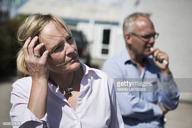 Spokesperson Christina Lowies Jensen of Danish food company Joern A Rullepoelser AS is pictured in front of the company's building in Hedehusene...