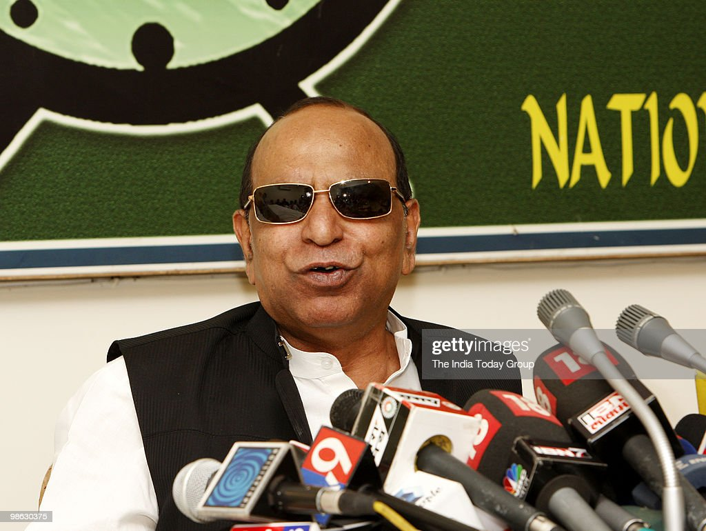 NCP spokesperson D P Tripathi holds press conference in New Delhi, on Thursday, April 22, 2010.