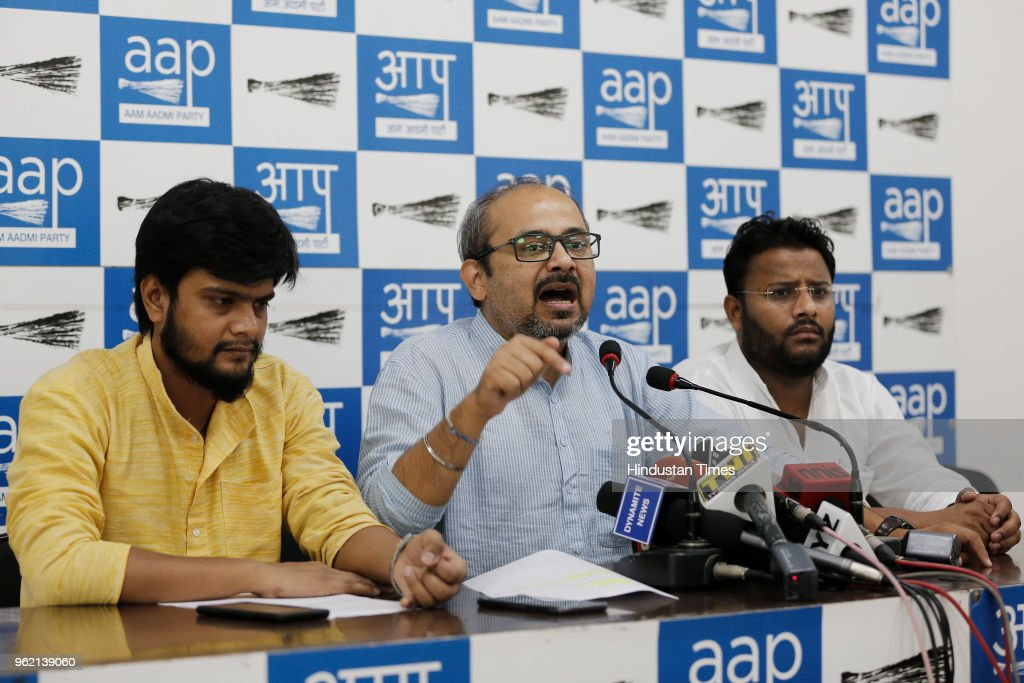 AAP Press Conference On Alleged Land In MCD