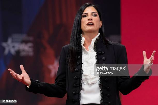Spokesperson for the National Rifle Association Dana Loesch speaks during the 2018 Conservative Political Action Conference at National Harbor in...
