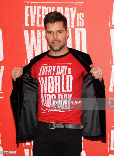 Spokesperson Ricky Martin Kicks Off World AIDS Day on November 30 2012 in New York City