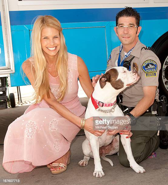 Spokesperson Television Host Beth Stern and Burbank Animal Control officer attend North Shore Animal League America's 2013 Tour For Life A National...