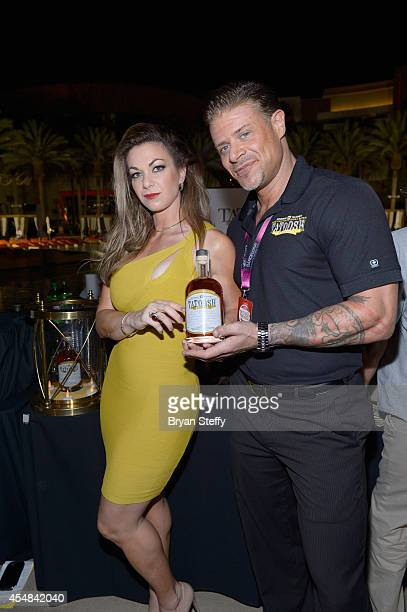 Spokeswoman Jennifer Kaiser and Tatoosh Brand Ambassador Rod Rashell attend the Las Vegas Food and Wine Festival at the Red Rock Casino Resort and...