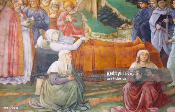 spoleto, umbria, italy: cathedral fresco by filippo lippi - medieval stock pictures, royalty-free photos & images