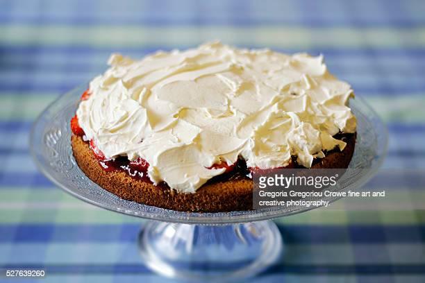 sponge cake - gregoria gregoriou crowe fine art and creative photography. stock-fotos und bilder