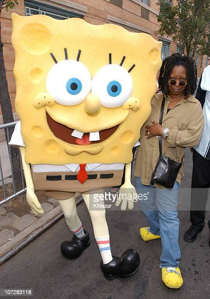 SpongeBob SquarePants and Whoopi Goldberg during 10th Annual Kids for Kids Celebrity Carnival to benefit the Elizabeth Glaser Pediatric AIDS...