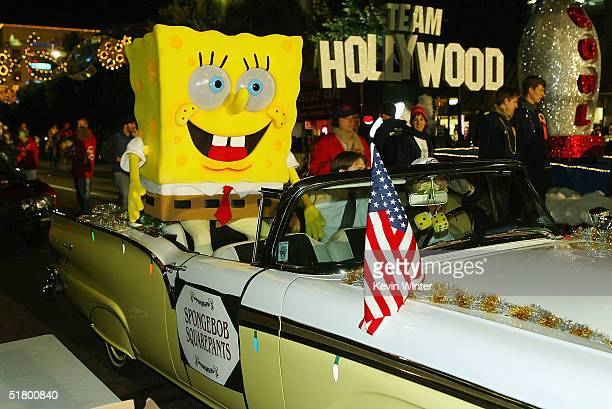 Spongebob Squarepants appears at the 73rd Annual Hollywood Christmas Parade on November 28 2004 in Hollywood California