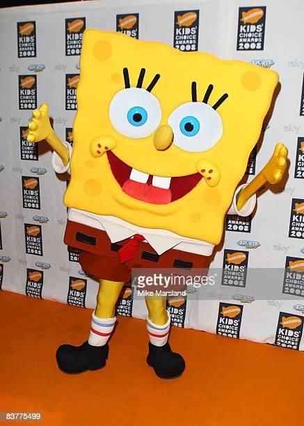 SpongeBob SquarePants attends Nickelodeon Kids' Choice Awards UK at ExCeL on September 13 2008 in London England