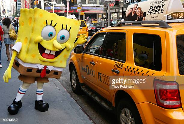 Spongebob Squarepants attends the celebration of the 10th anniversary of Nickelodeon's SpongeBob SquarePants on July 15 2009 in New York City