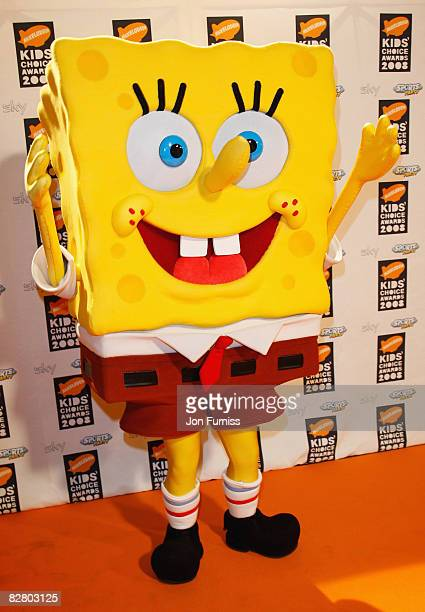 SpongeBob SquarePants attends the Nickelodeon Kids' Choice Awards UK 2008 held at the ExCeL London on September 13 2008 in London England