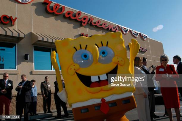 SpongeBob SquarePants celebrates the opening of the 4000th Walgreen store