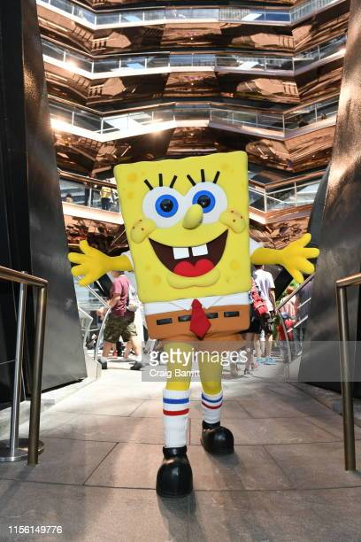 "SpongeBob SquarePants ""Shellabrates"" His 20th Anniversary at Dylan's Candy Bar Hudson Yards at Hudson Yards on June 15 2019 in New York City"