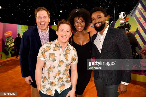 SpongeBob SquarePants the Musical cast members attend Nickelodeon's 2019 Kids' Choice Awards at Galen Center on March 23 2019 in Los Angeles...