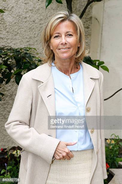 Sponsor and Host of the event Claire Chazal of France 5 attends 'La Flamme Marie Claire' 7th Edition Press Conference at the Salon FranceAmeriques on...