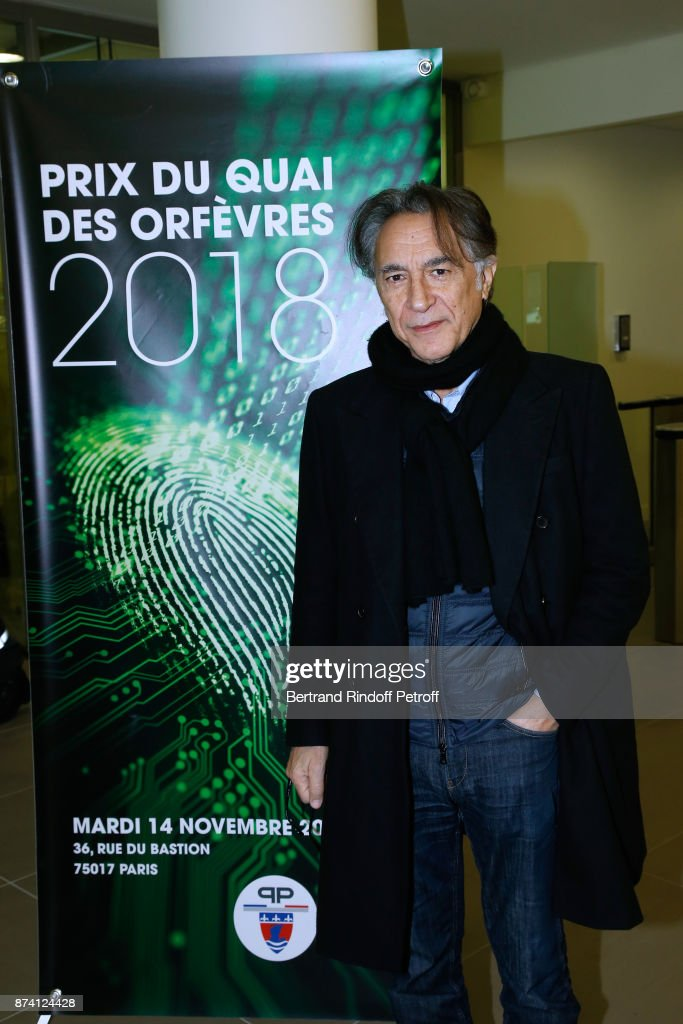 Sponsor of the 2018 Prize, Richard Berry attends Sylvain Forge wins the '71eme Prix du Quai des Orfevres - 2018' for his Book 'Tension Extreme'. Held for the first time at new local of the 'Direction Regionale de la Police Judiciaire', 36 Rue du Bastion in Paris, France on November 14, 2017.