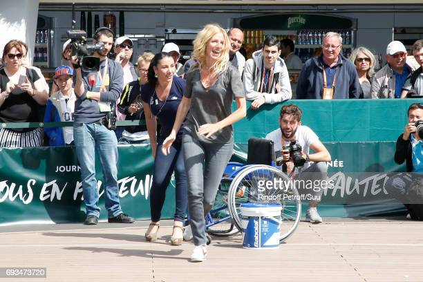Sponsor of the association Comme les autres actress Sandrine Kiberlain attends the Race during the All in Wheelchair Day as part ofthe 2017 French...