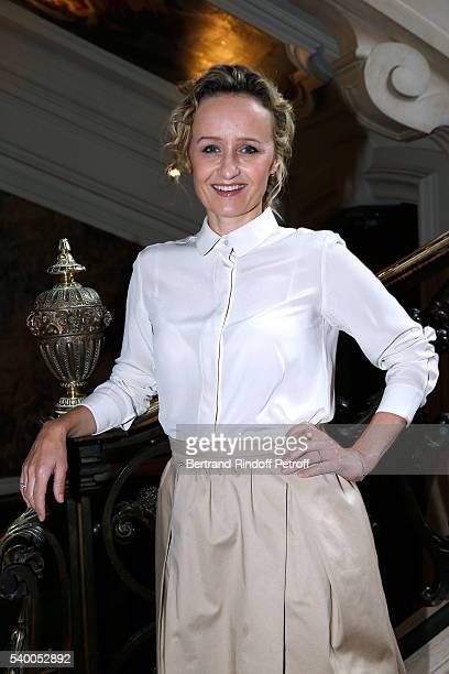 Sponsor of the event Caroline Roux of France 5 attends 'La Flamme Marie Claire' 7th Edition Press Conference at the Salon FranceAmeriques on June 14...