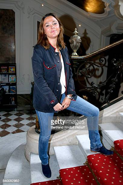 Sponsor of the event Sandrine Quetier of TF1 attends 'La Flamme Marie Claire' 7th Edition Press Conference at the Salon FranceAmeriques on June 14...