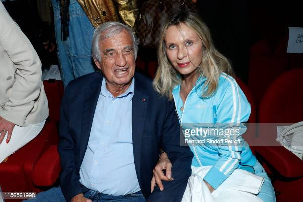 Sponsor of the school JeanPaul Belmondo and actress Valerie Steffen attend L'Entree des Artistes Theater School by Olivier Belmondo at Theatre Des...