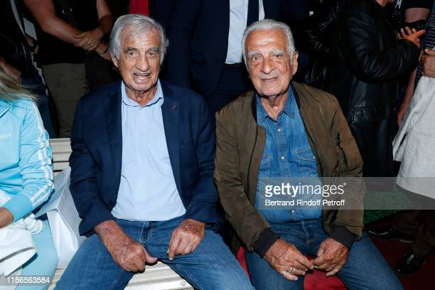Sponsor of the school JeanPaul Belmondo and his brother Alain Belmondo attend L'Entree des Artistes Theater School by Olivier Belmondo at Theatre Des...