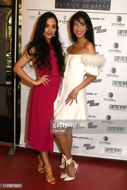 Sponsor/designer Sakina Shbib and Vanessa Modely from UNESCO attend the 37th Romy Schneider And Patrick Dewaere Awards At Hotel Lancaster on April 29...