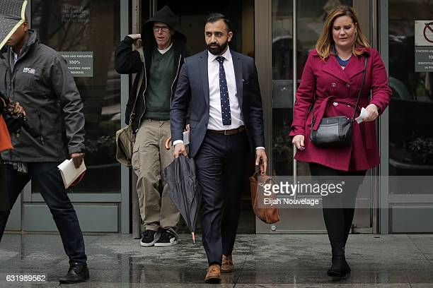 Sponsoring attorney Sam Amin leaves the courthouse following the arraignment of Noor Salman on January 18 2017 in Oakland California Salman pled not...