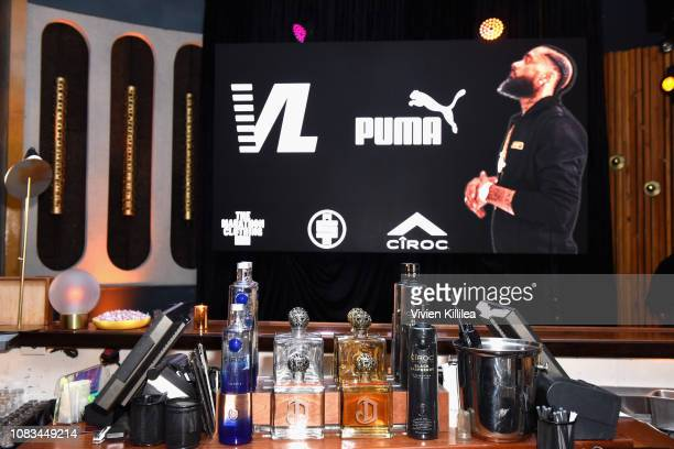 Sponsors are seen during the PUMA x Nipsey Hussle 2019 Grammy Nomination Party at The Peppermint Club on January 16, 2019 in Los Angeles, California.