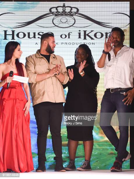 Sponsors at the House of iKons show during London Fashion Week February 2018 at Millenium Gloucester London Hotel on February 17 2018 in London...
