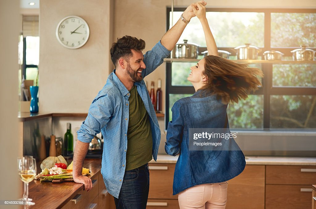 Spontaneous dancing and romancing : Stock Photo