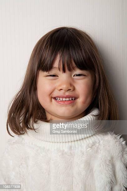 Spontaneous portrait of a half-Asian girl