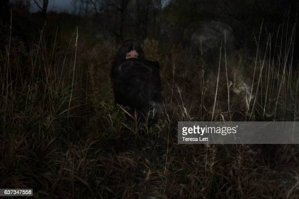 Spooky and ghostly image of a woman