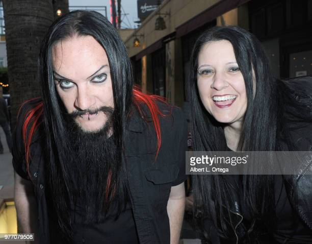 Spooky Dan Walker and Tammy Sutton Walker arrive for the 2018 Etheria Film Night held at the Egyptian Theatre on June 16 2018 in Hollywood California
