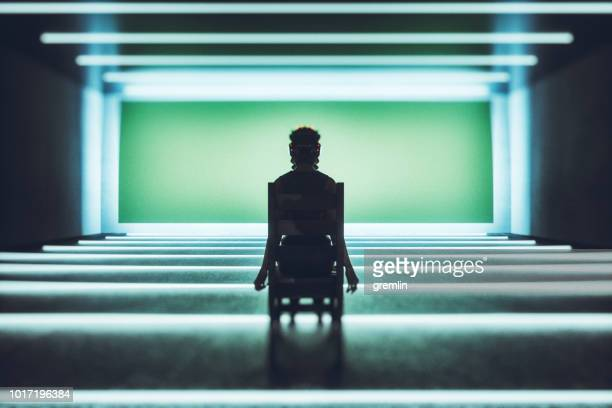 spooky futuristic vr world - female torture stock pictures, royalty-free photos & images