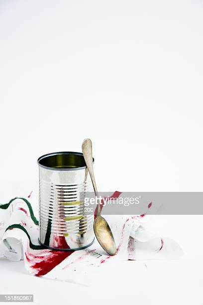 Spoon of canned and oxidation