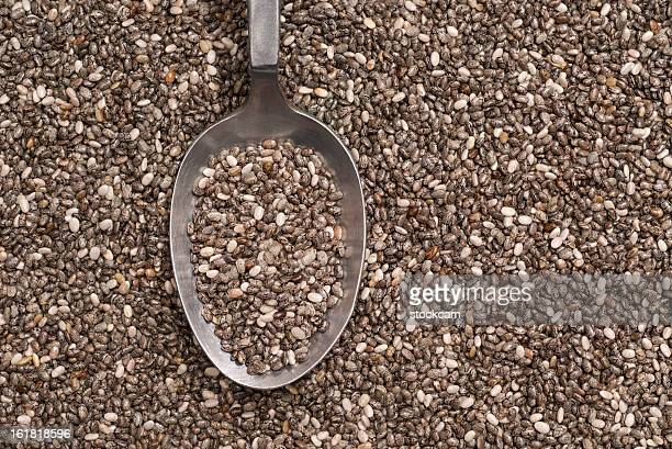 Spoon with chia seeds