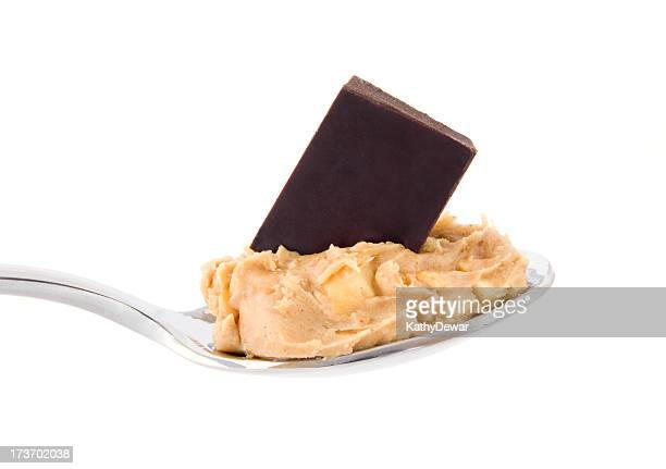 Spoonful of peanut butter and chocolate