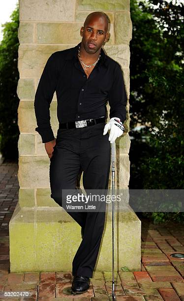 Spoony poses during a photoshoot prior to the proam event before The Celtic Manor Wales Open 2005 at Celtic Manor Golf and Country Club on June 1...