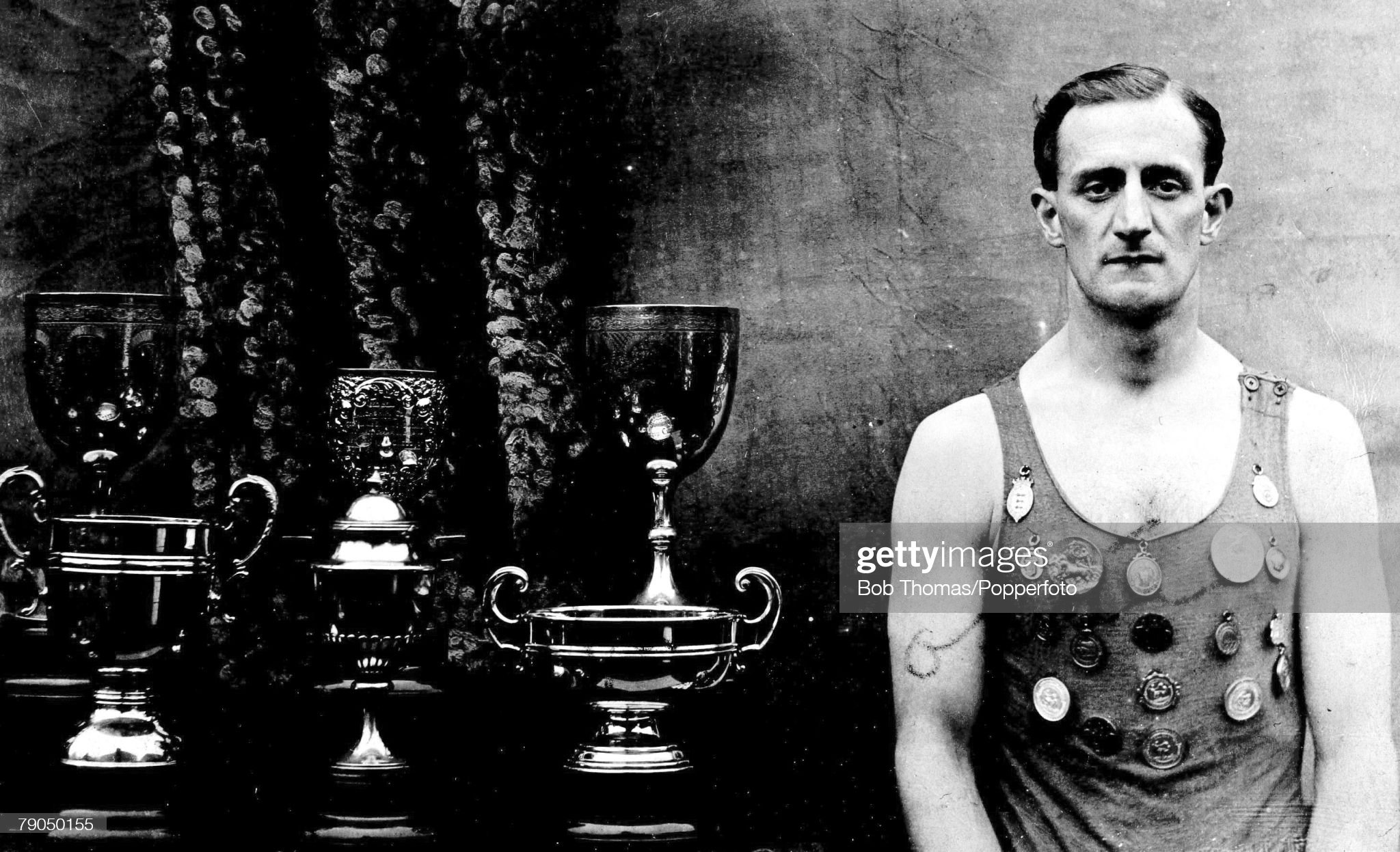Sport. 1908 Olympic Games. London, England. Swimming. A picture of William Foster of the British 4 x 200 metres freestyle relay team that won the gold medal at the White City Stadium. : Fotografía de noticias