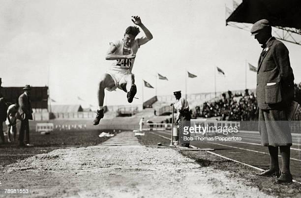 Sport 1924 Olympic Games in Paris Pentathlon Robert Legendre USA competing in the Long Jump discipline in the Pentahlon Robert Legendre excelled in...