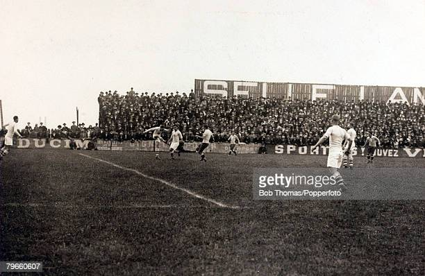 Sport 1924 Olympic Games Paris France Football 29th May 1924 Uruguay 3 v USA O Action from the game with the United States clearing their lines
