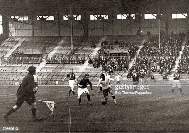 Sport 1924 Olympic Games Paris France Football SemiFinal Stade Combes 6th June 1924 Uruguay 2 v Holland 1 Action from the game