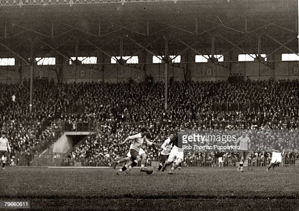 Sport 1924 Olympic Games Paris France Football Stade Colombes 1st June 1924 Uruguay 5 v France 1 Action from the game with the Uruguayans on the...