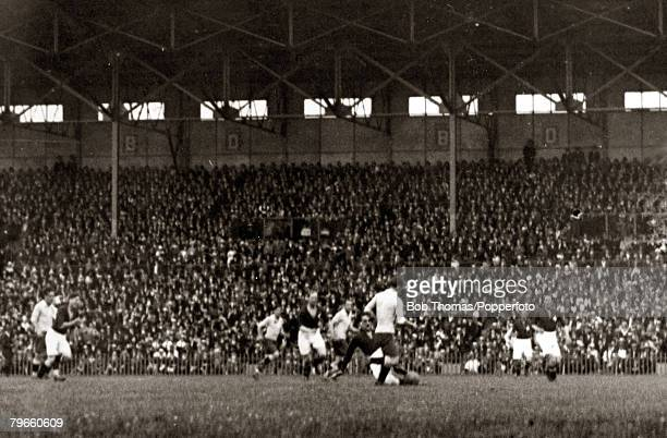 Sport 1924 Olympic Games Paris France Football Stade Colombes 9th June 1924 Final Uruguay 3 v Switzerland O Action from the game played in front of...