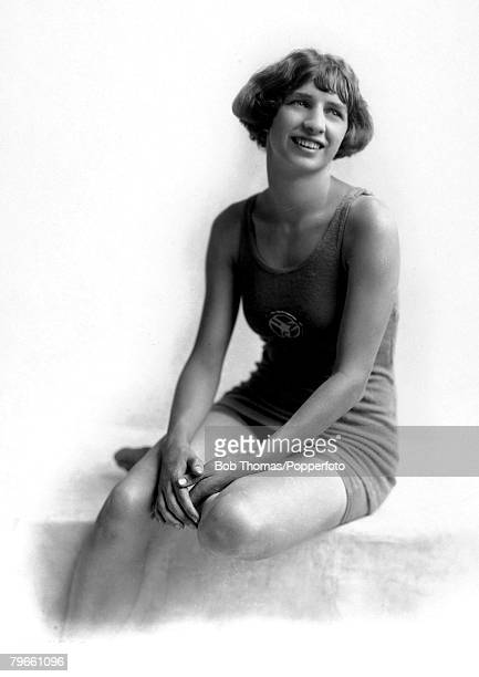Sport 1924 Olympic Games Paris France Swimming Sybil Bauer USA the Gold medal winner in the Womens 100 metres Backstroke She was the world record...