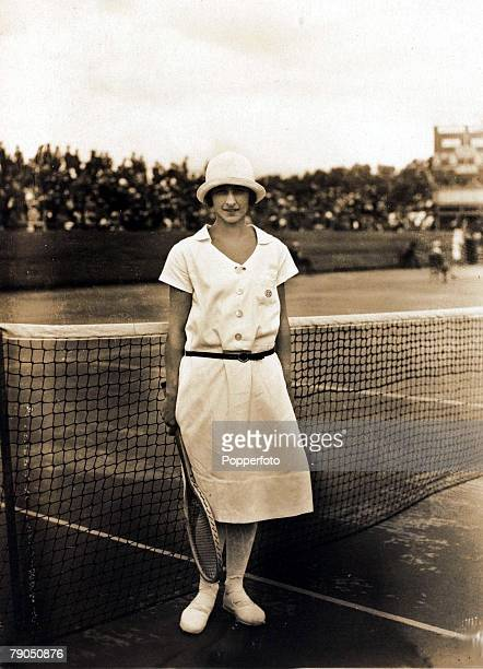 Sport, 1924 Olympic Games, Paris, France, Tennis, The winner of the silver medal in the Ladies Singles event Miss Julie Vlasto of France who was...