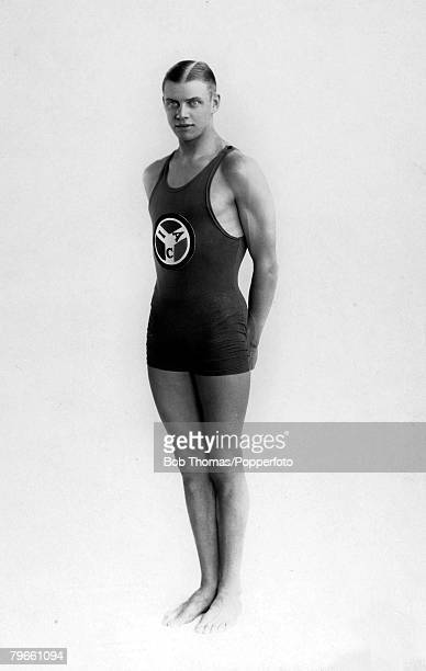 Sport 1928 Olympic Games Amsterdam Holland Swimming Arne Borg Sweden the Gold medal winner in the Mens 1500 metres FreesyleThis was his only gold...