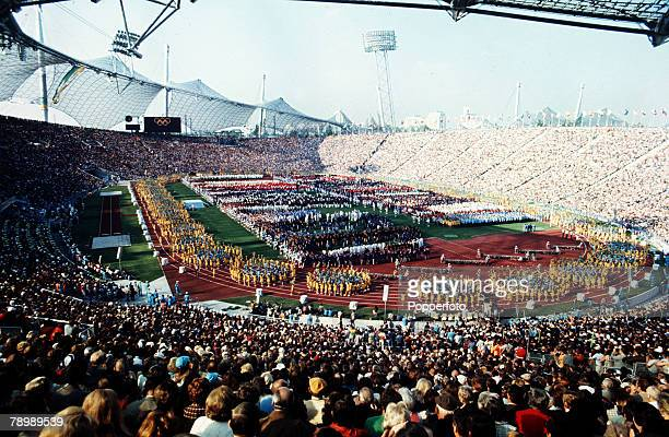 Sport 1972 Olympic Games in Munich A general view of the Opening Ceremony in the Olympic Stadium