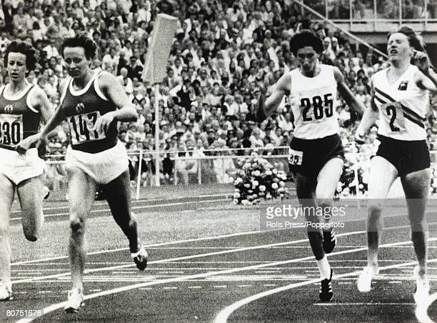Sport 1972 Olympic Games in Munich Athletics Womens 200 Metres Final East Germany's Christina Heinich wins the gold medal with Poland's Irena...